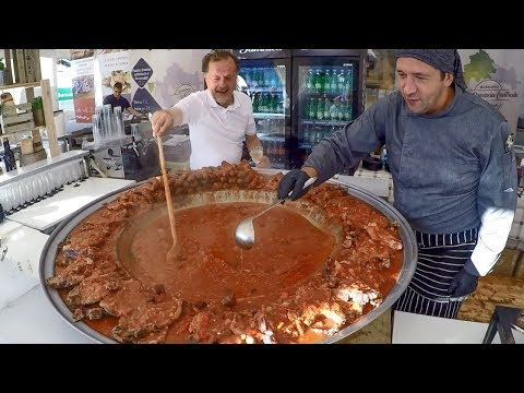 Croatia Street Food. Pasta, Meat, Cheese And More