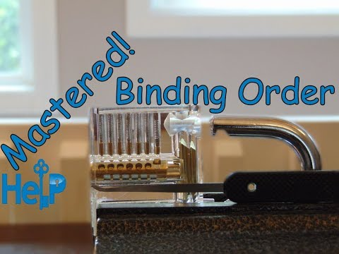 [76] How To Learn The Binding Order When Picking Locks