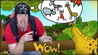 Animals on Safari with Steve and Maggie | Story for Children | English for Kids