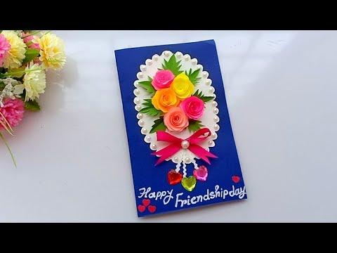 Beautiful Handmade friendship day card//friendship day card idea.