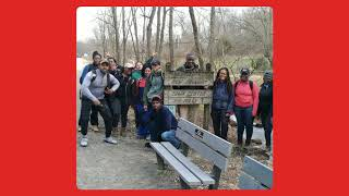 Mason-Dixon Line on the Northern Central Railroad (NCR) Trail on March 30, 2019