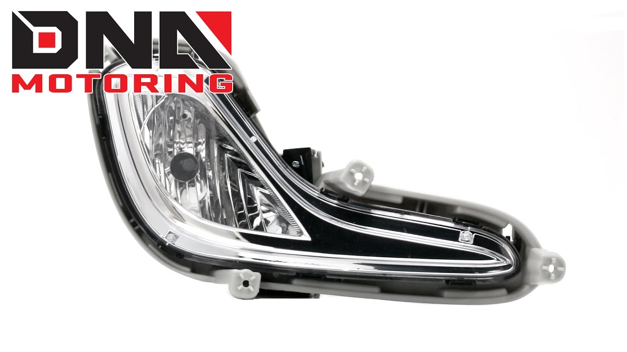 dna motoring 12 16 hyundai accent chrome fog lights [ 1280 x 720 Pixel ]