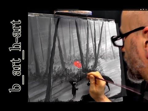 """Malen mit Acrylfarben – Fantasy """" Dark Forest """""""