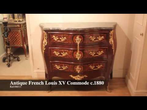 Antique French Louis XV Commode Chest of Drawers c.1880