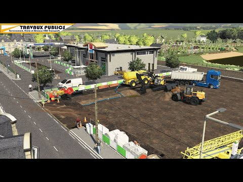 Terrassement Volvo ECR355E   Travaux publics   Farming Simulator 19