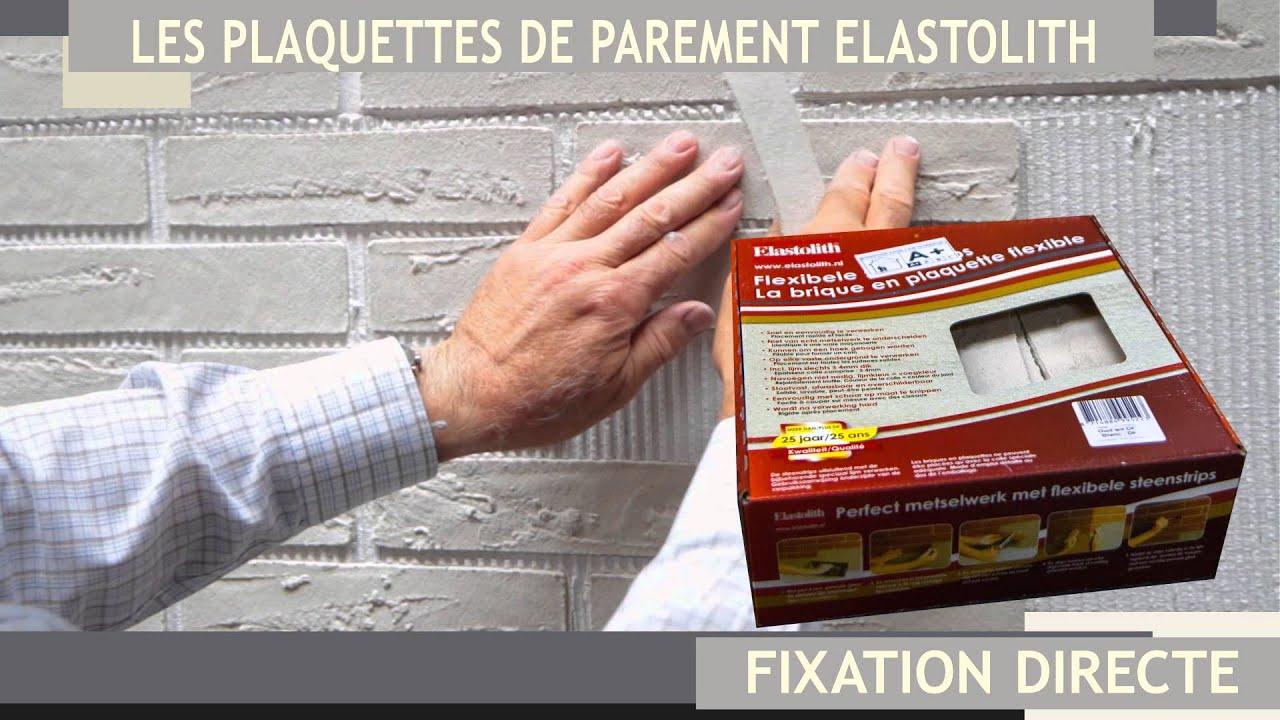 Plaquettes de parement souples elastolith youtube for Coller des plaquettes de parement