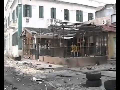 Rare footage inside war torn city of Misrata Libya.