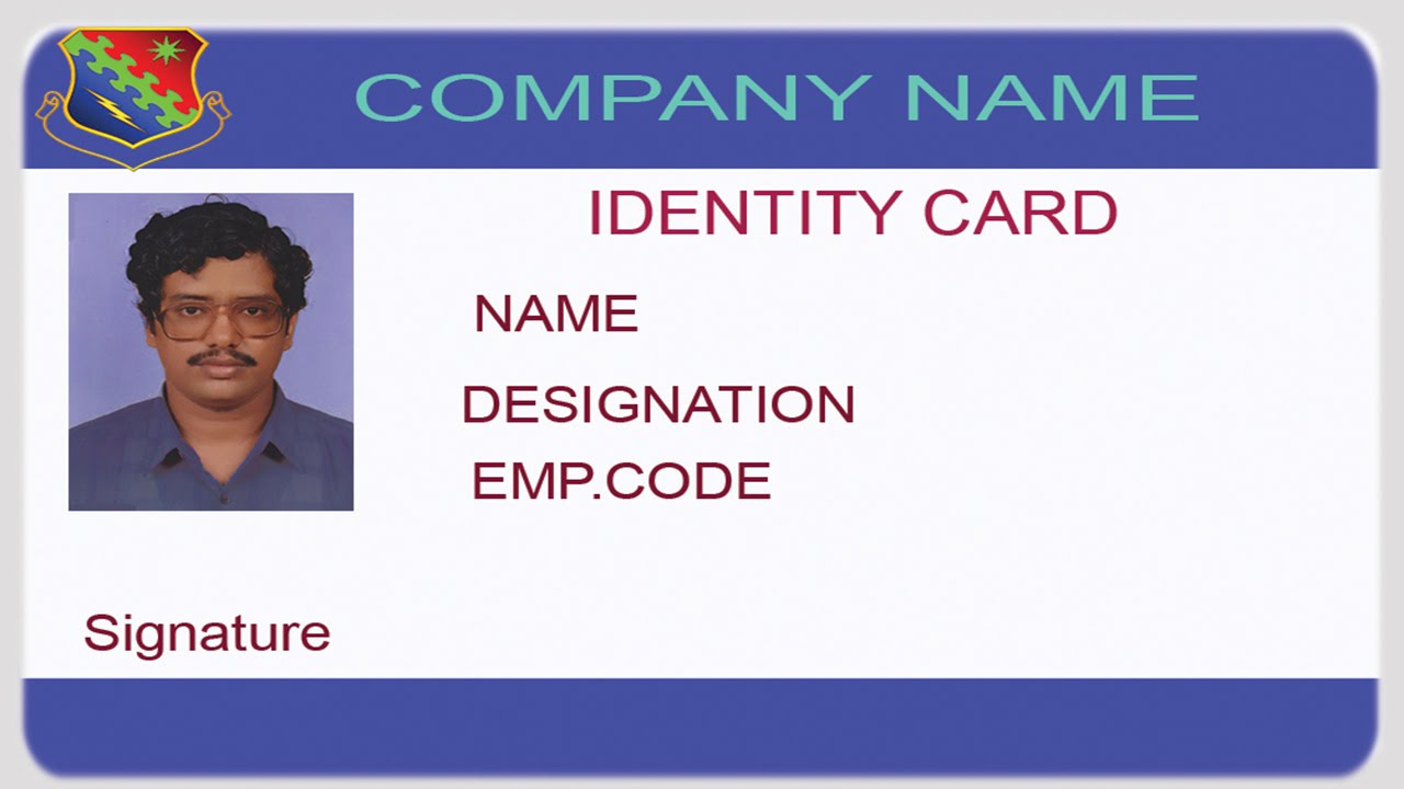 math worksheet : how to design an id card using photoshop with english ...