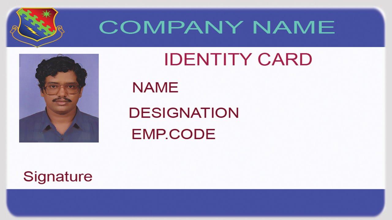 make an identity card