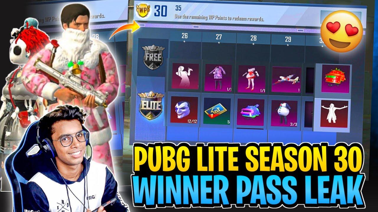 PUBG Mobile Lite Season 30 Winner Pass All Rewards Leak 😍 | Pubg lite New Season