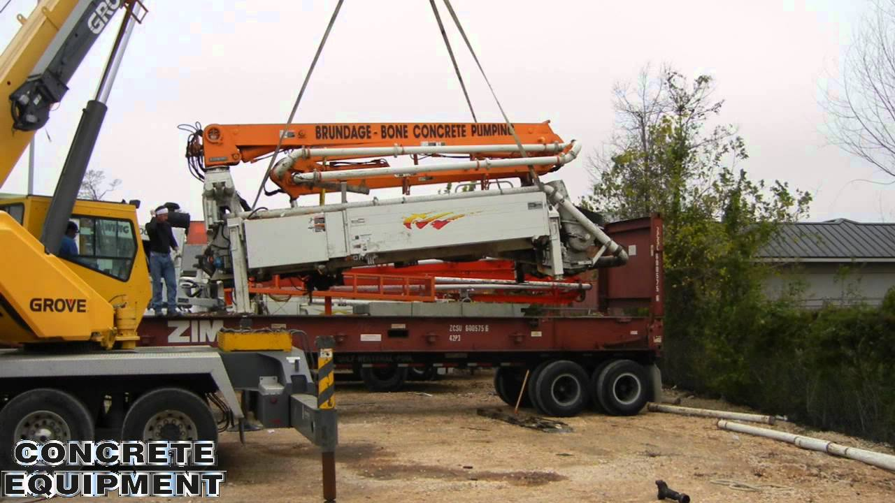 Schwing Concrete Pump Flat Rack Container For Ocean