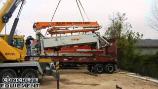 Schwing Concrete Pump Flat Rack Container for Ocean freight