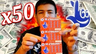 50 SCRATCH CARDS - WINNING TICKET!? - DARE OV!
