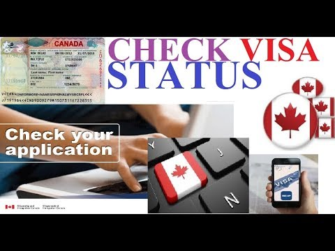 Track my online canada visa application