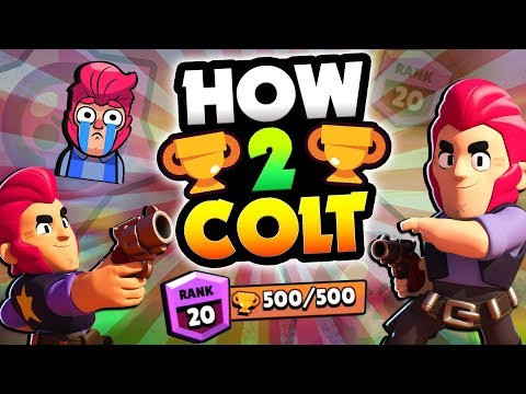 HOW TO COLT! BEST TIPS & TRICKS TO WIN MORE WITH COLT IN BRAWL STARS! COLT 500 TROPHY GUIDE!