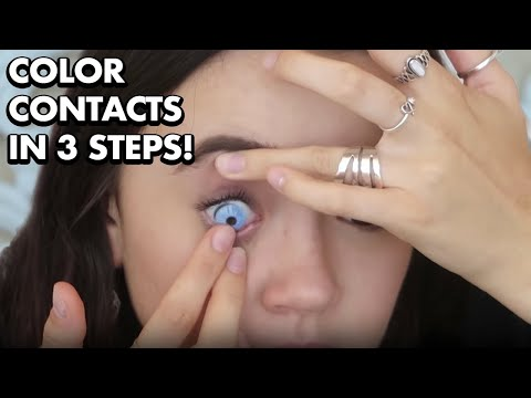 How To Put In Color Contacts Fast & Easy ... I Put In 7 Colors! Fiona Frills