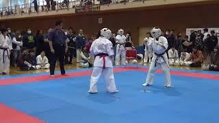 新極真会徳島北東あわじ N.D選手 vs 神武会館 R.K選手.