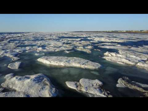 Barrow Alaska June 2017 Midnight Sun drone flight over the Chukchi Sea