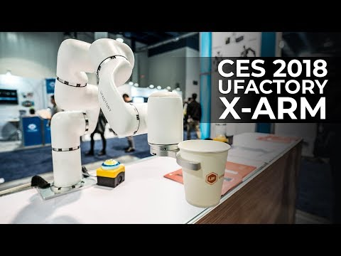 CES 2018 – Ufactory X-arm at the Consumer Electronics Show