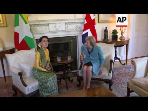 Aung San Suu Kyi meets UK PM in London