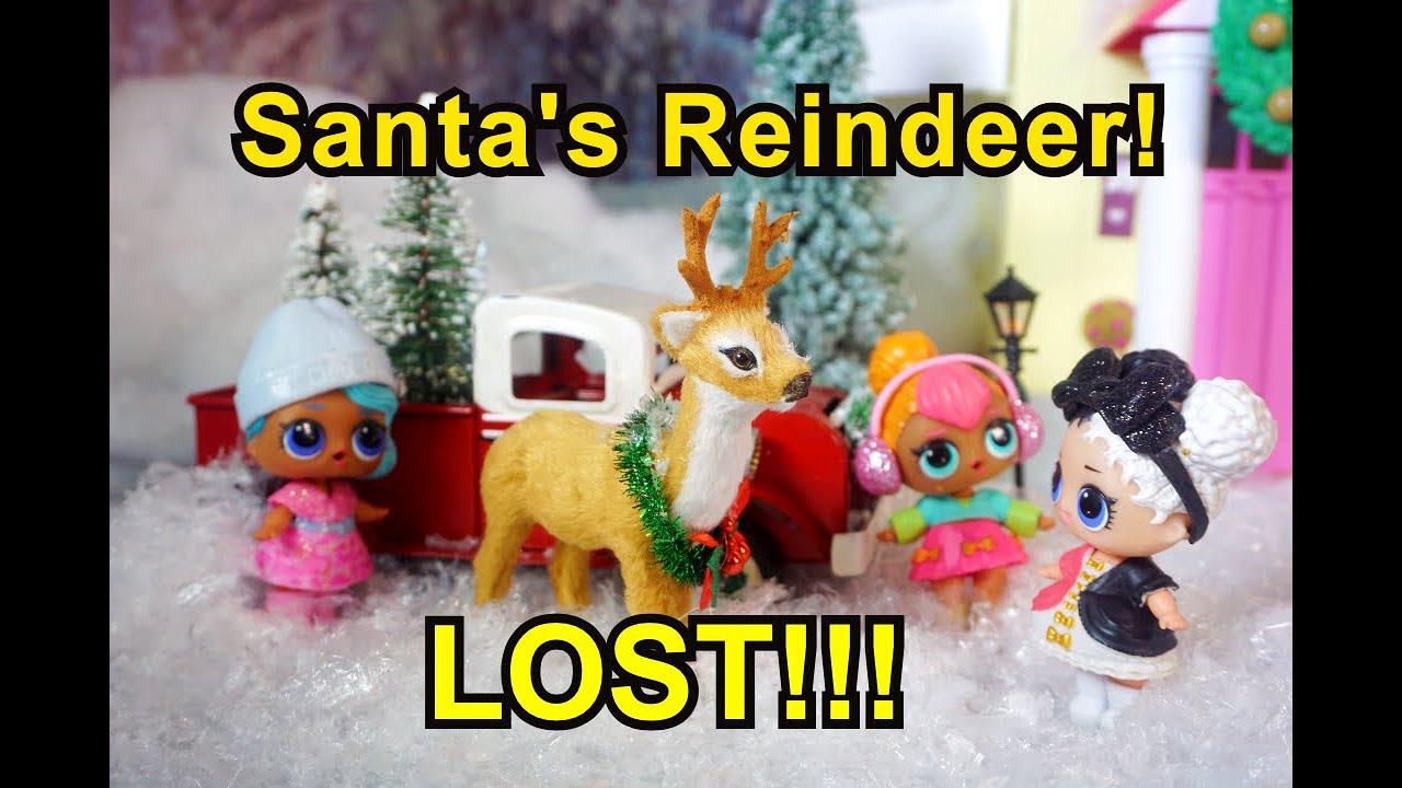 LOL SURPRISE DOLLS Find Santa's Reindeer!