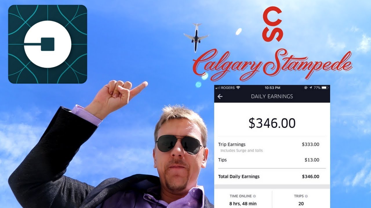 Driving for UBER in Canada During Calgary Stampede - YouTube