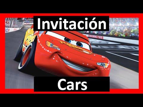 Video Invitación Cars Whatsapp Digital