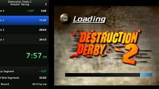Destruction Derby 2 - Wrecking Racing Speedrun in 30:59