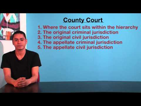 VCE Legal Studies - County Court jurisdiction
