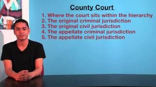 VCE Legal Studies - County Court jurisdiction