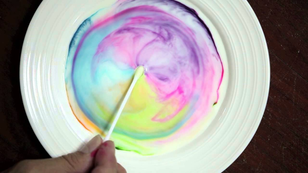science with milk food coloring and dish soap