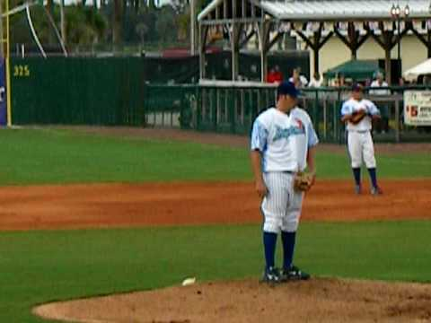 Ryan Searle Pitcher from the Daytona Cubs on 8/28/09