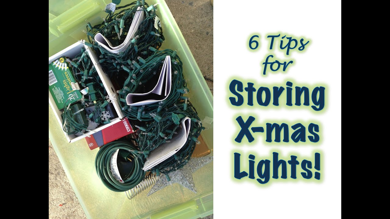 christmas light storage organization youtube