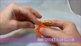 left hand half double crochet tutorial 6 magic adjustable loop in hdc