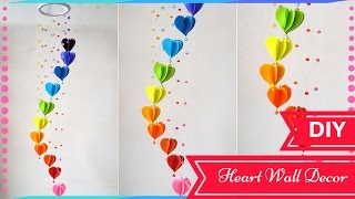 DIY Wall Decor Ideas for Valentines Day - Heart Decors in living Room   By Maya Kalista!