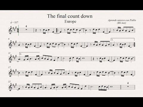 THE FINAL COUNTDOWN:  Bb inst (clarinete, trompeta, saxo soprano/tenor) (partitura con playback)
