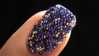 Caviar Nails Diy : How To Do Bead Nail Art!
