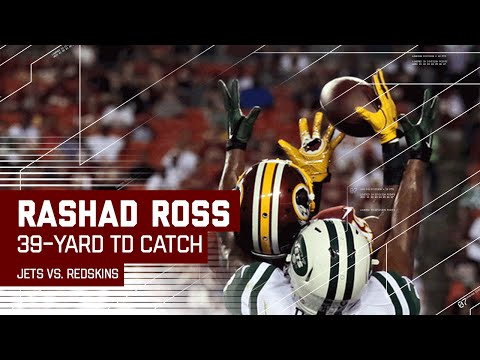 Colt McCoy to Rashad Ross for Incredible TD Catch! (Preseason) | Jets vs. Redskins | NFL