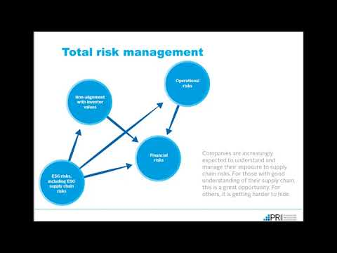 PRI Webinar: Managing ESG Risks in the Supply Chains of Private Companies and Assets