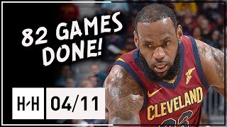 LeBron James MAKES HISTORY! Full Highlights vs Knicks (2018.04.11) - 10 Pts, 82 Games Done!