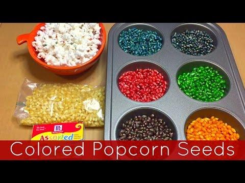 How To Color Popcorn Seeds -  Preschool and Kindergarten