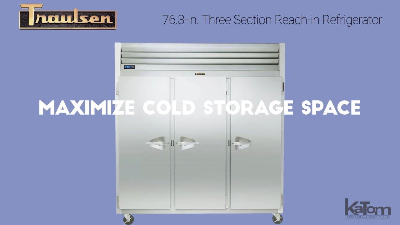 Traulsen 76.3 In. Three Section Reach In Refrigerator (206 G30010)