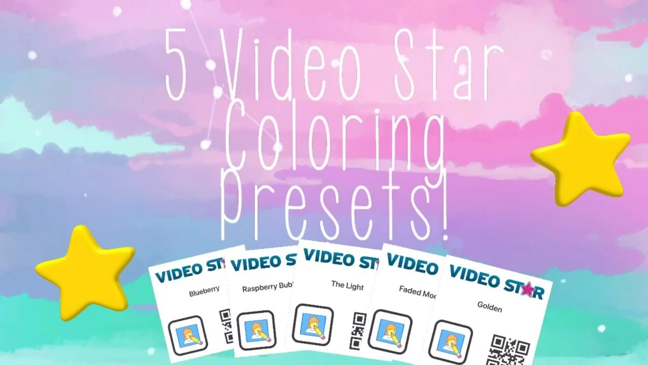 Video Star Coloring Overlays Color Fun