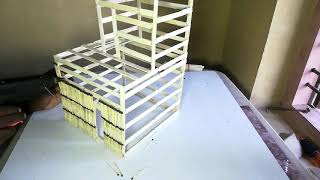 How to make a small house by using (matchstick and bamboo sticks)