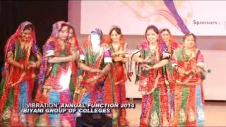 Biyani Girls College Annual Function-2014 on Rajasthani Dance