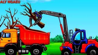 Trucks for children Excavator for kids car for kids/part 1