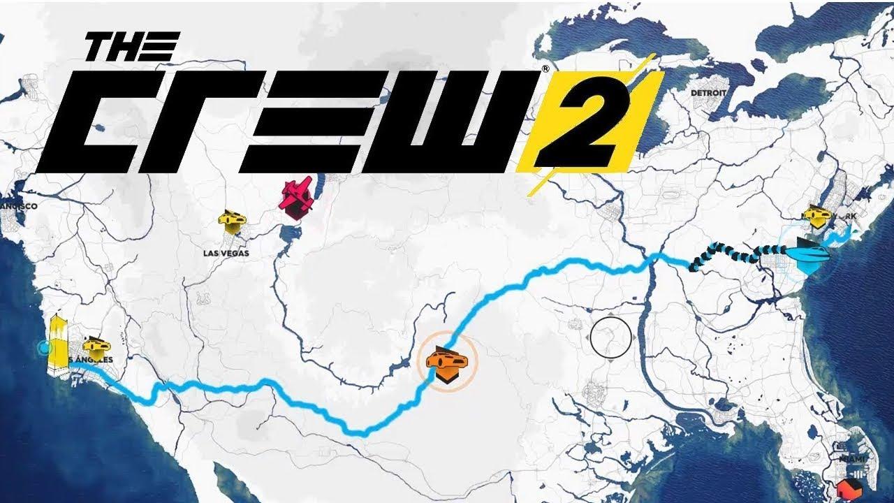 Mapa The Crew 2.The Crew 2 Beta Closed Recorriendo El Mapa De Punta A Punta