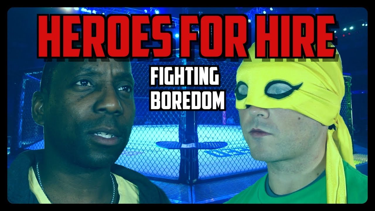 Sketch From Superheroes: Heroes For Hire – Fighting Boredom