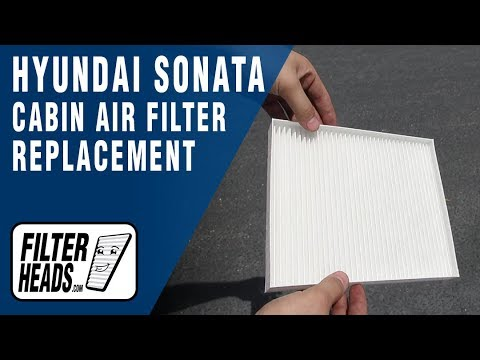 How to Replace Cabin Air Filter  2017 Hyundai Sonata
