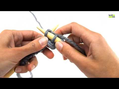 Learn to knit - Part 3 - Knit stitch (right and left handed way)